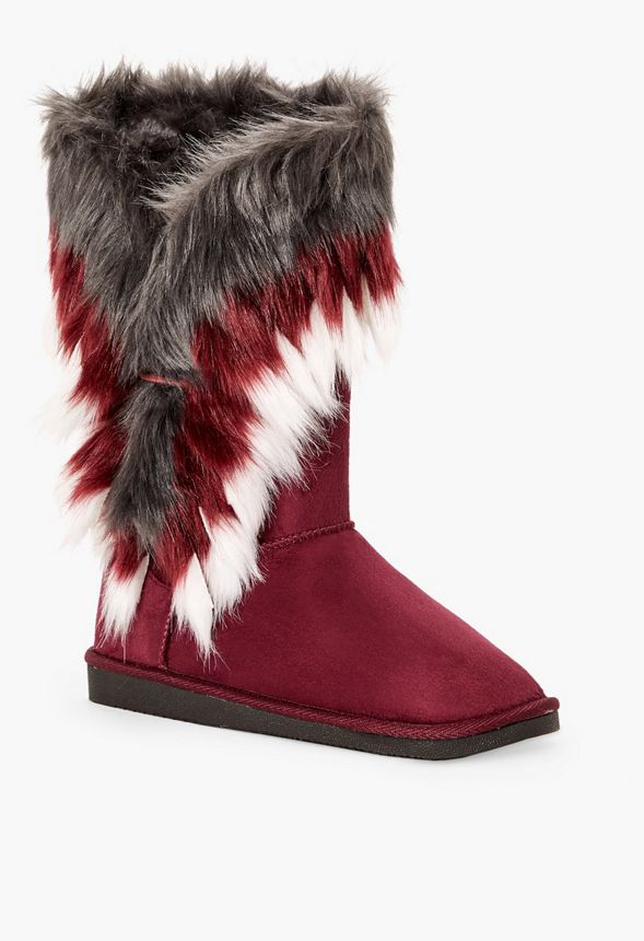 7228cdebc4f Winter s Coming Furry Fuzzie in Burgundy - Get great deals at JustFab