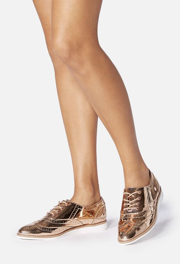7192ab4898532 Mirabelle Flat in Rose Gold - Get great deals at JustFab
