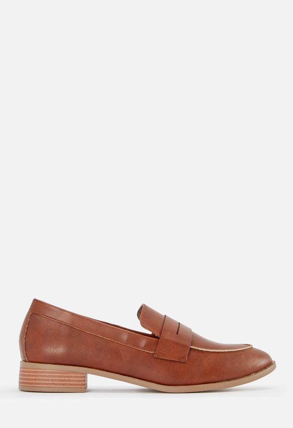 bf60b7ea8dc0 Ramona Loafer Flat in COGNAC - Get great deals at JustFab