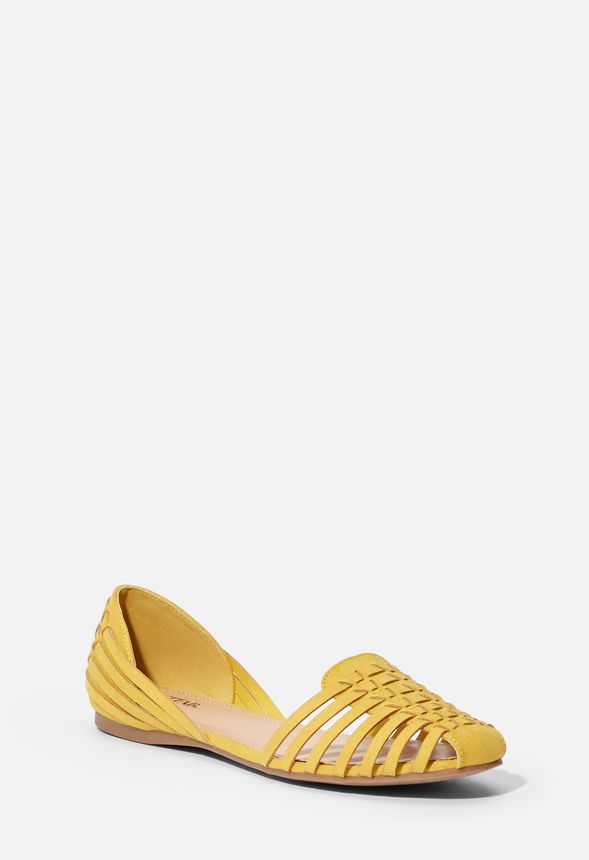 0a40c0f360a Lucita Woven Flat in golden spice - Get great deals at JustFab