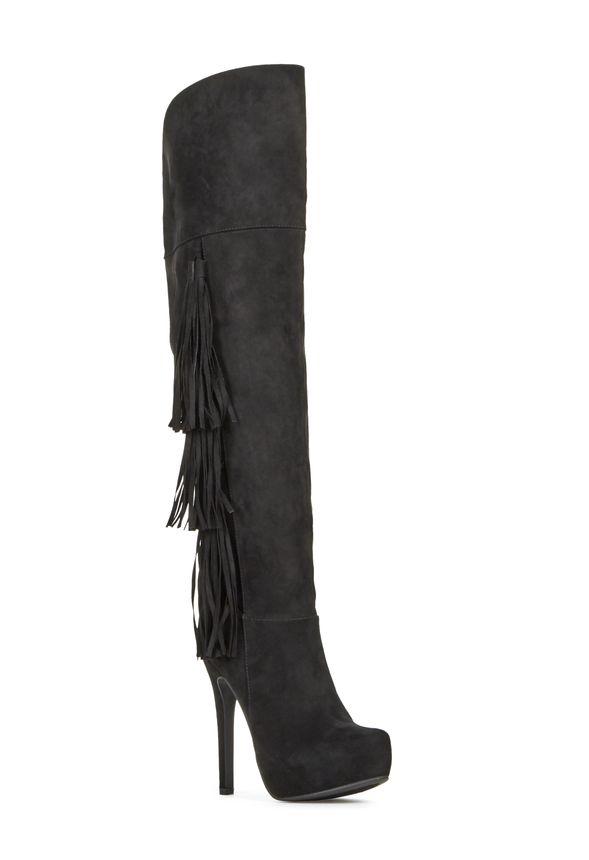 justfab fringe boots