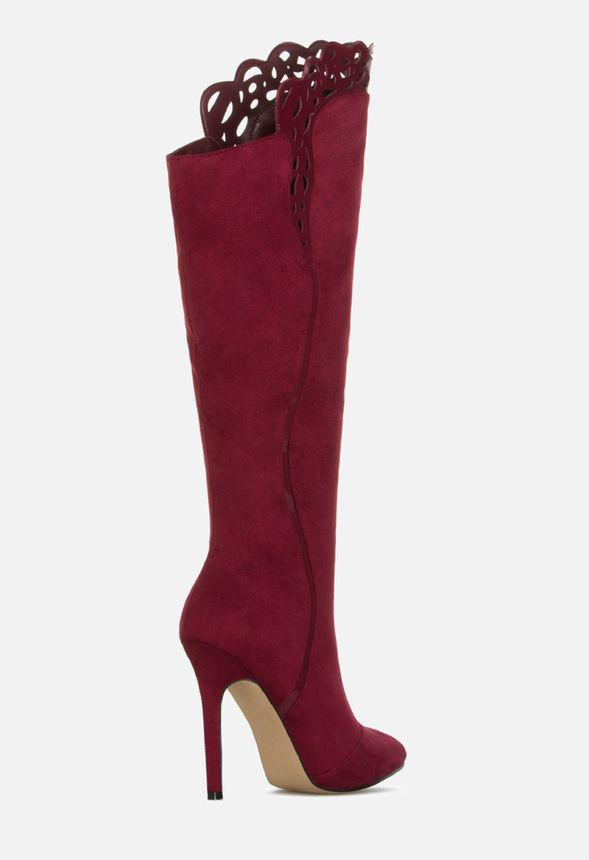 50f6eac8a549 HALARIA HEELED BOOT in Wine - Get great deals at JustFab