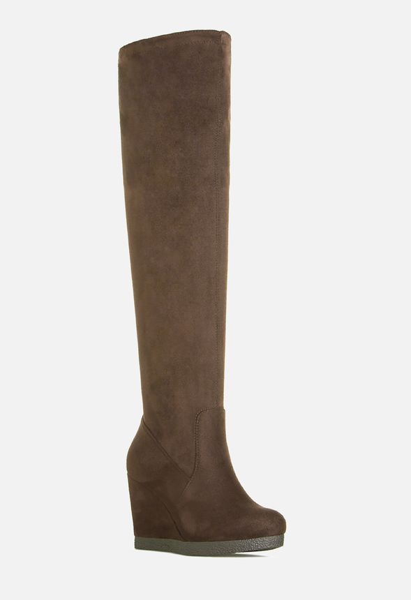 f54465ee780 MARLA HEELED BOOT in Taupe - Get great deals at JustFab