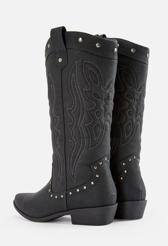94930c91ec5e Dolley Cowboy Boot in Black Onyx - Get great deals at JustFab