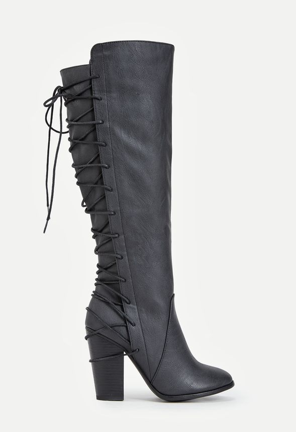 High Heel Boots Lace Up