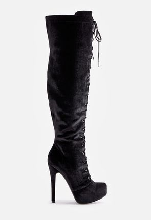Women s Black Knee High Boots On Sale - 50% Off Your 1st Order! 78988fd41