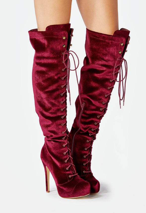 1265d7985dad Dashiella Heeled Boot in Burgundy - Get great deals at JustFab