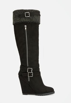 0cdae8ed686 Womens Wedge Boots   Booties - Flat