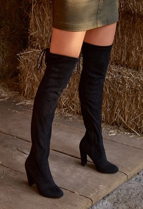 bb9f015c58d Women s Black Over The Knee Boots On Sale - 50% Off Your 1st Order!