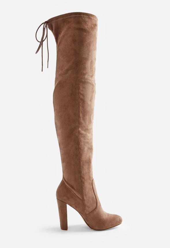 33e7665e432 Philipa Over-The-Knee Boot in Taupe - Get great deals at JustFab