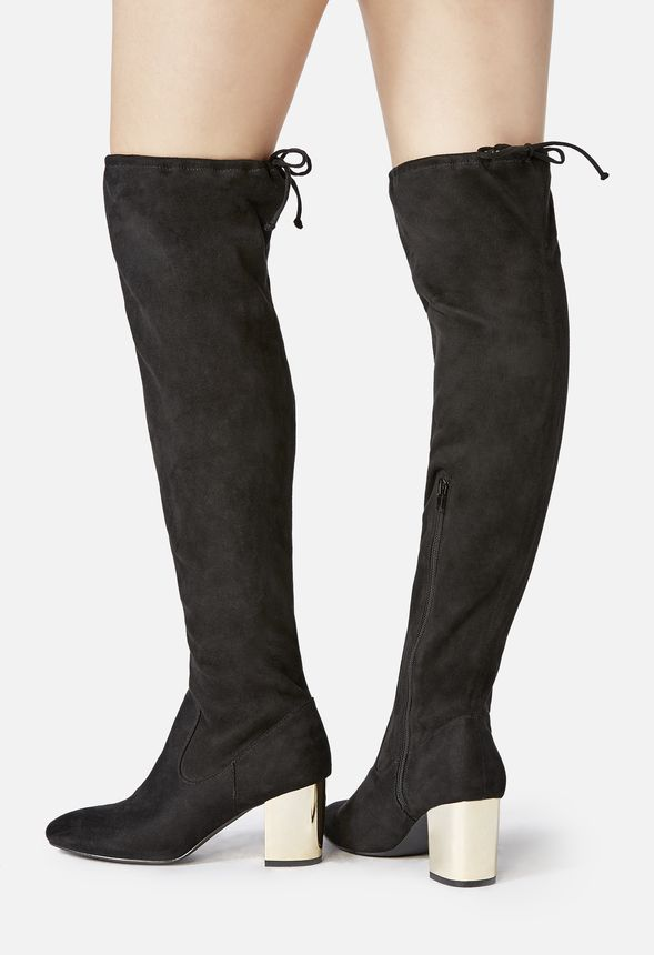 98486b7446d3fd Adina Over The Knee Heeled Boot in Black - Get great deals at JustFab
