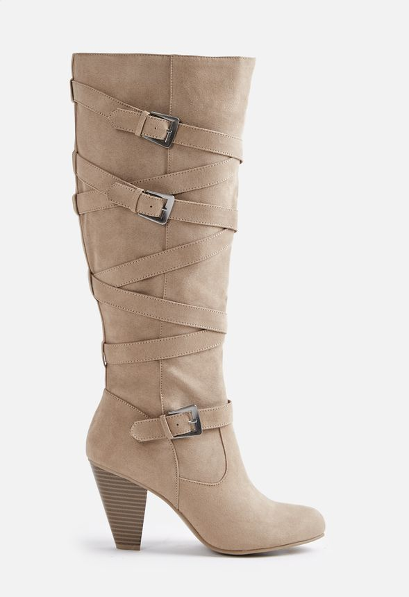 0ce83a3f28d Maisy Buckle Tall Boot in Taupe - Get great deals at JustFab