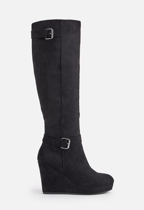 2b78484337b Black Wedge Boots On Sale - 50% Off Your 1st Order!