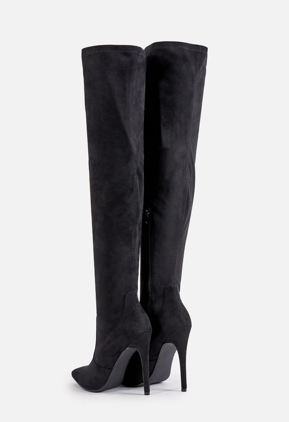 87ae1fea71c Freya Stiletto Over-The-Knee Tall Boot in black faux sued - Get ...