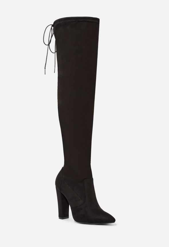 2cae5d2f46 Cara Stretch Over-The-Knee Boot in Black - Get great deals at JustFab