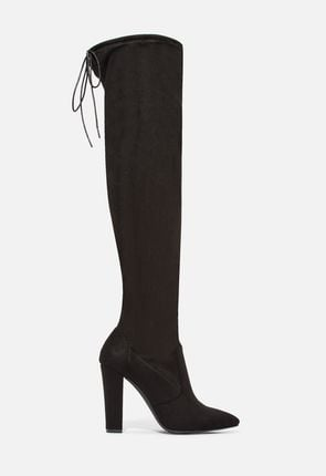 5ac294971547 Cara Stretch Over-The-Knee Boot in Black - Get great deals at JustFab