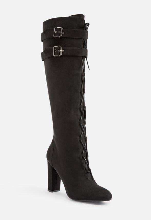 2e9de8e72c8f Merri Lace-Up Tall Boot in Black - Get great deals at JustFab