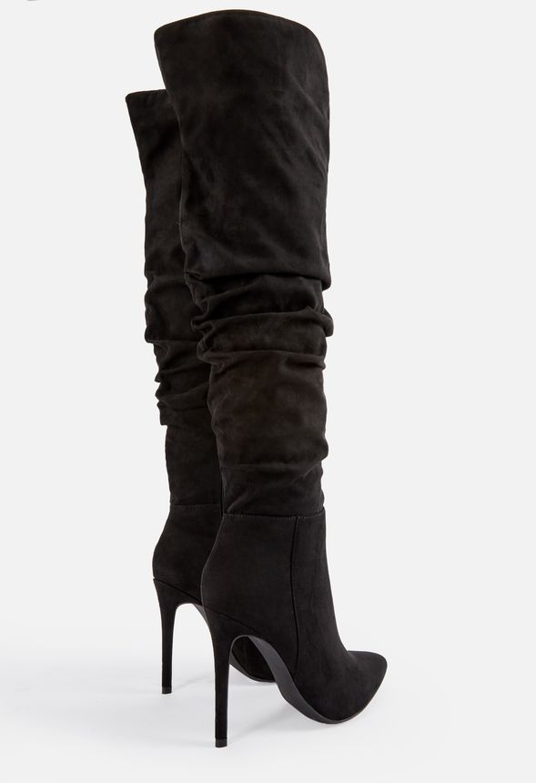ae7198c3c5e Francis Slouchy Stiletto Boot in Black - Get great deals at JustFab