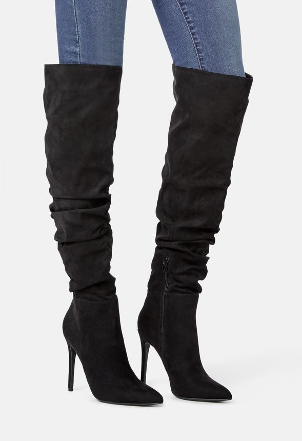 5bc51b2c7b92 Francis Slouchy Stiletto Boot in Black - Get great deals at JustFab