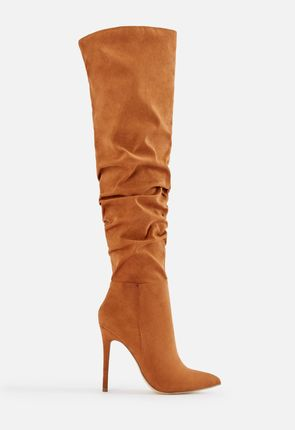 925a246bf5b Francis Slouchy Stiletto Boot in COGNAC - Get great deals at JustFab