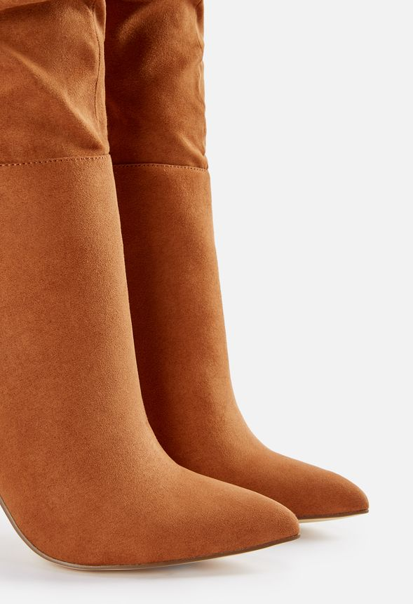 be2b89905bf Francis Slouchy Stiletto Boot in Cognac - Get great deals at JustFab