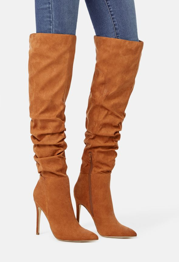 d0145da24a49 Francis Slouchy Stiletto Boot in Cognac - Get great deals at JustFab
