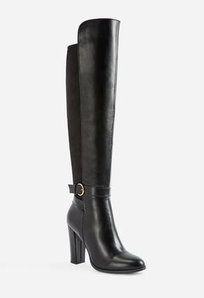 High Heel Boots Flat Ankle Knee High Over The Knee High Heeled