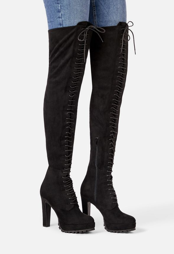 shoedazzle remi lace up boot