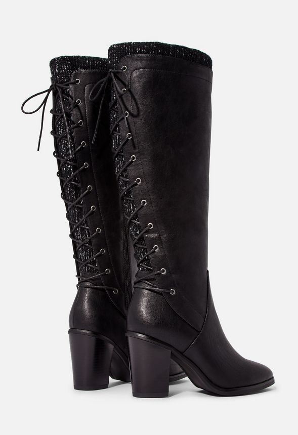 Lace Me Up Back Lace-Up Boot in Lace Me