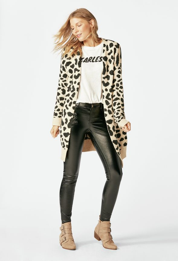 e95f44cdd943 Leopard Print Cardigan in Leopard - Get great deals at JustFab