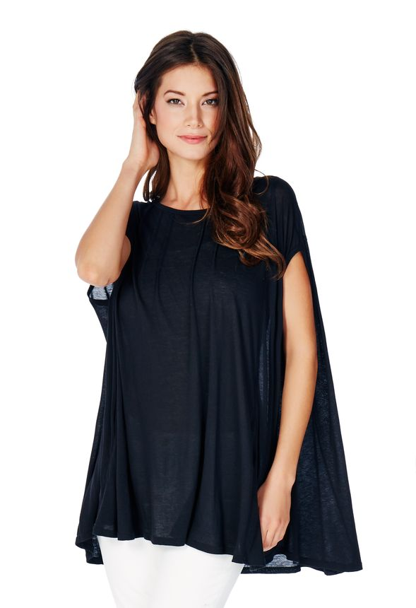 e0245750f687a Oversized Pocket Tee in Black - Get great deals at JustFab