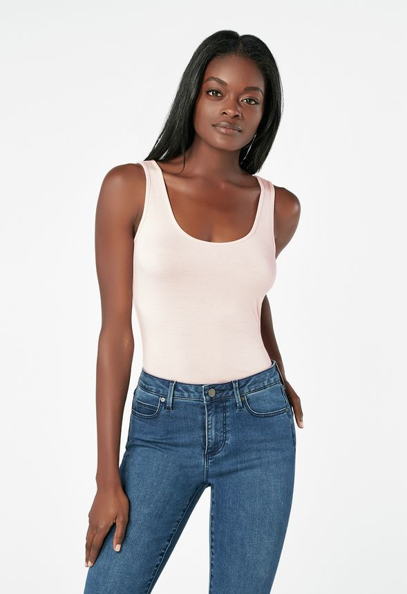 da8ce36fe501 Luxe Tank Top in pink salt - Get great deals at JustFab