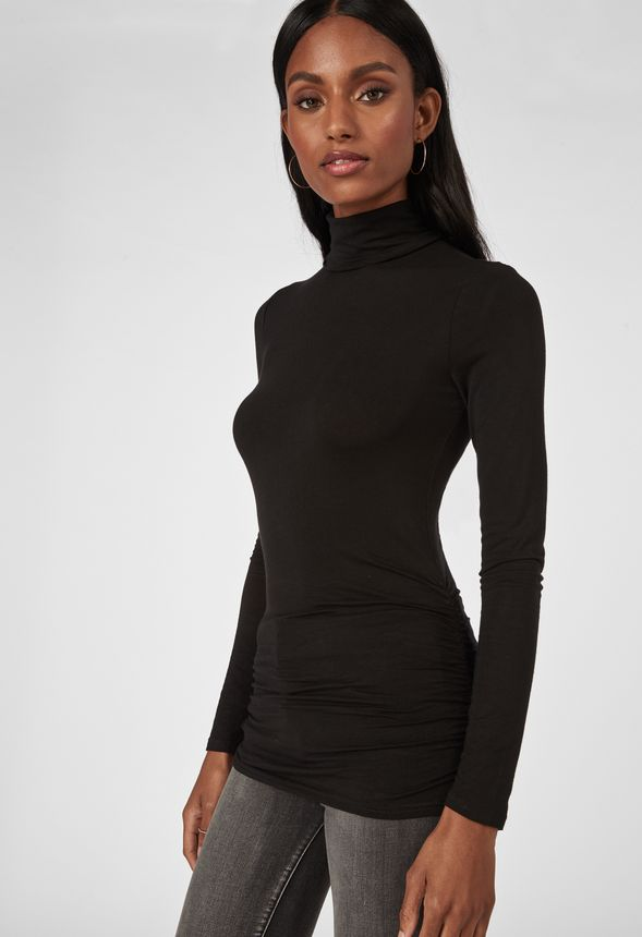 a4571d3eb2d Turtleneck Top in Black - Get great deals at JustFab