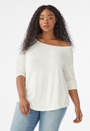 c004c93264 Easy Off Shoulder Tee ...