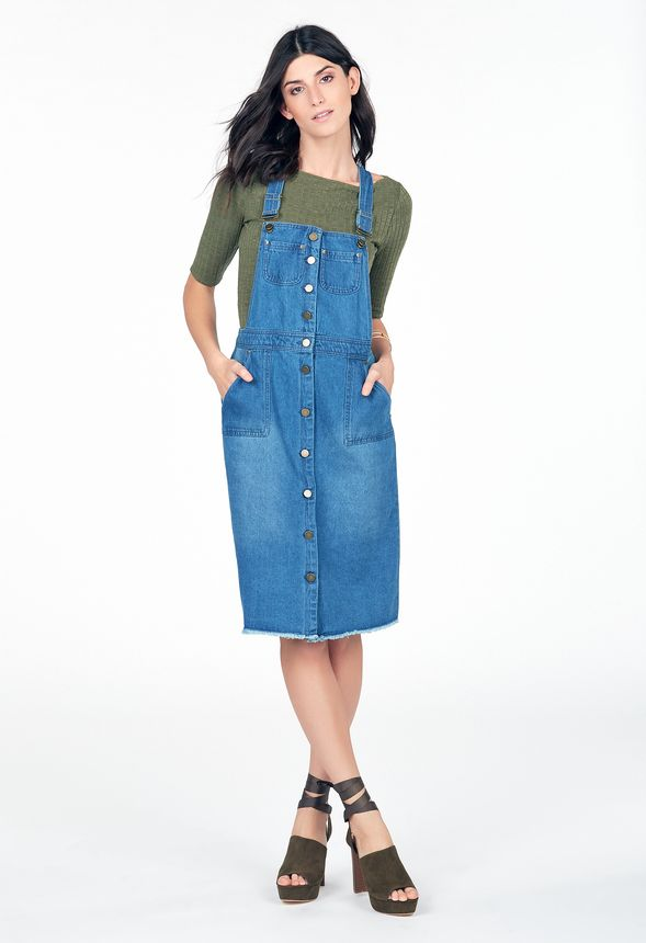 eb931d46b3 Overall Dress in Overall Dress - Get great deals at JustFab