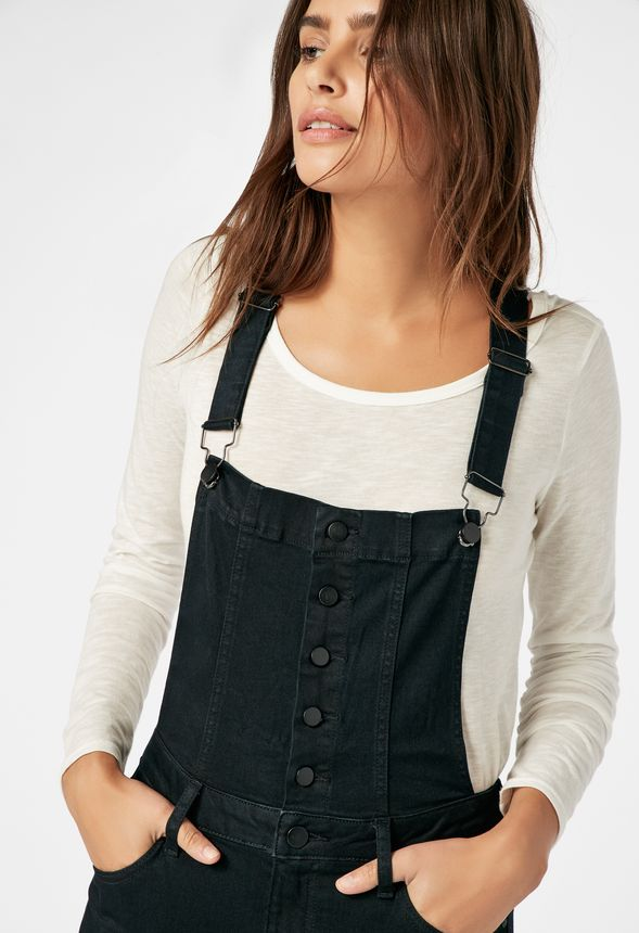 38b350a3290 Skinny Denim Overalls in LIGHTHOUSE - Get great deals at JustFab