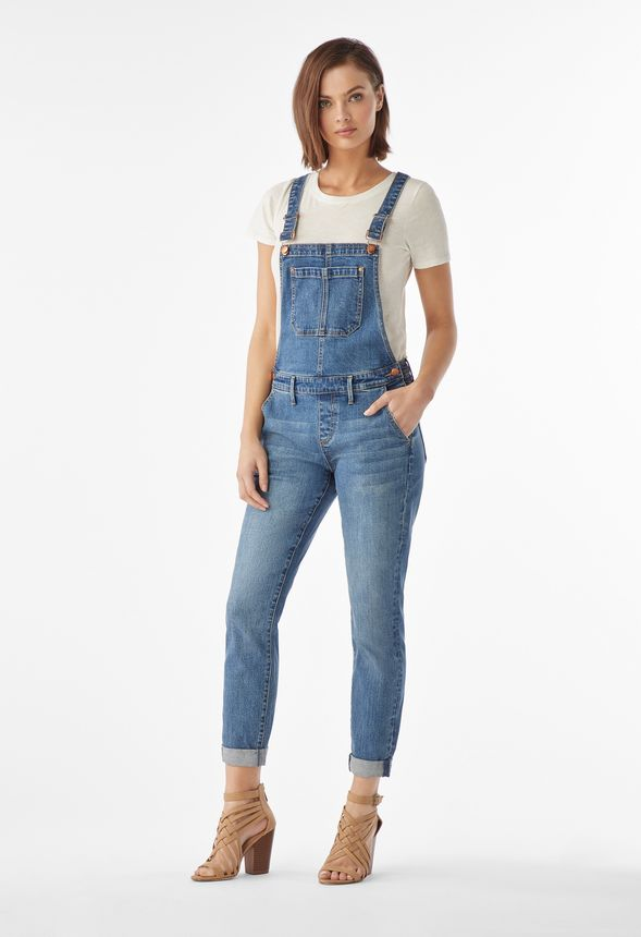 ee4ee6656f Relaxed Denim Overalls in Broome Street - Get great deals at JustFab