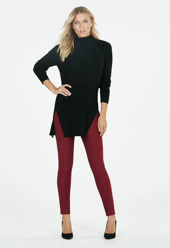 38cb751a9a6 Split Turtleneck Tunic in Black - Get great deals at JustFab