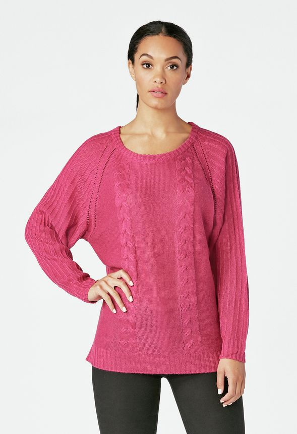 Dolman Pullover Sweater in festive fuchsia - Get great deals at JustFab 009f43343