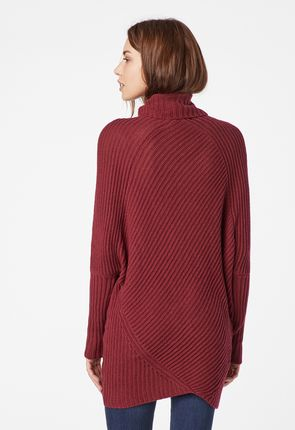 eaafd4cbbb7 Long Tunic Sweater in Red Velvet - Get great deals at JustFab