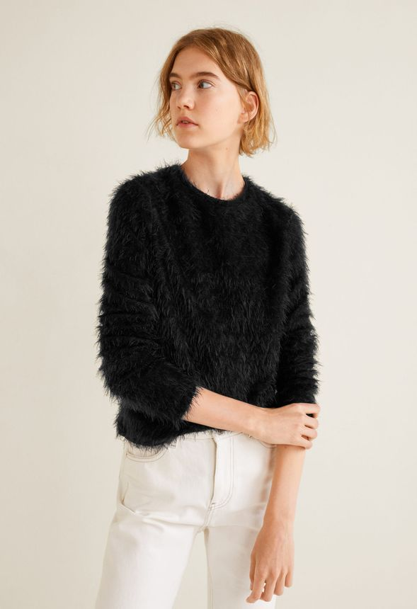 54378e050 Faux Fur Sweater in Black - Get great deals at JustFab