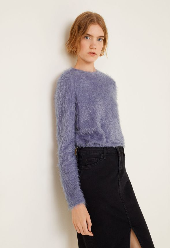 cbc893c7e Faux Fur Sweater in Purple - Get great deals at JustFab