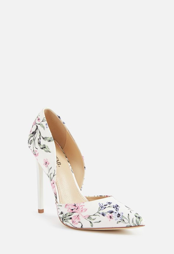 baf476a533d Monika D Orsay Pump in WHITE FLORAL - Get great deals at JustFab