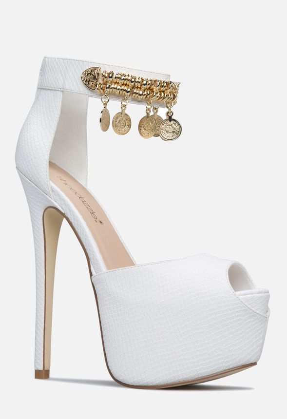 9f4e3b02c349 Makeda Pump in White - Get great deals at JustFab