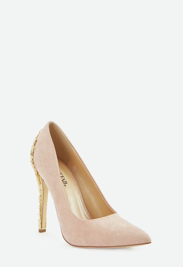 cc710be10c1e98 Sarina Embellished Heel Pump in Blush - Get great deals at JustFab