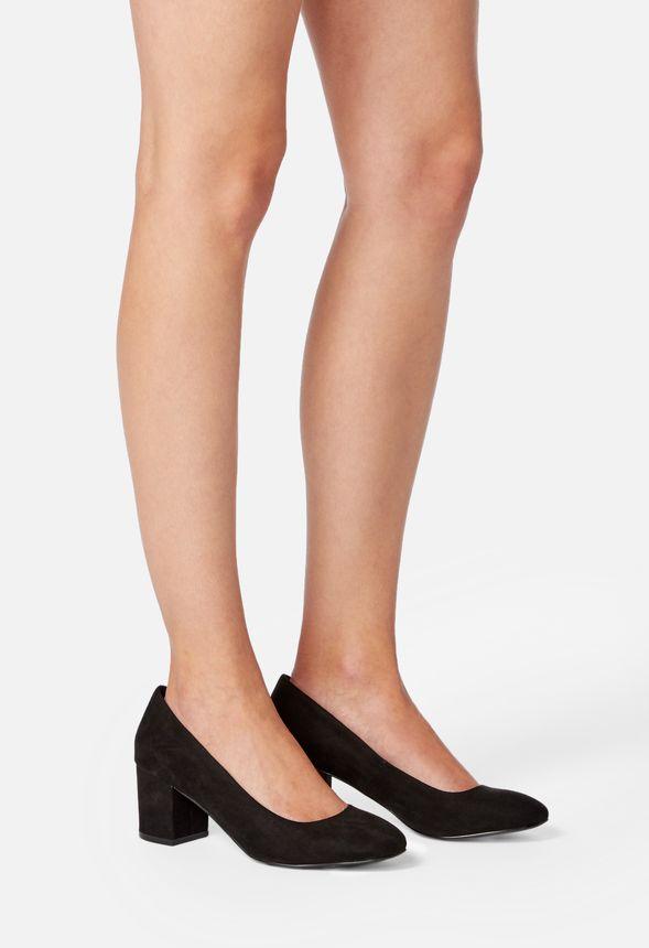 ed4e44bc5c4 Liza Block Heel Pump in Black - Get great deals at JustFab