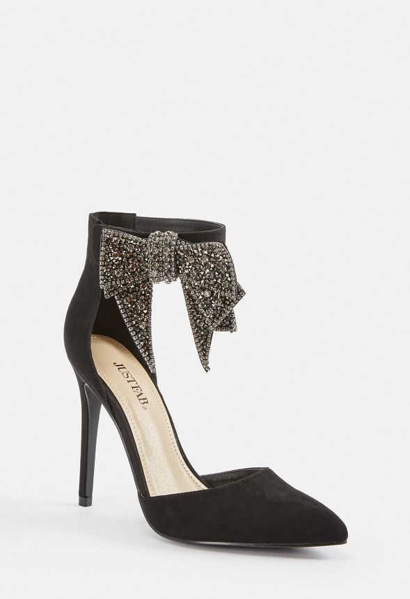 6bd159124a9 Lucy Bow Pump in Black - Get great deals at JustFab