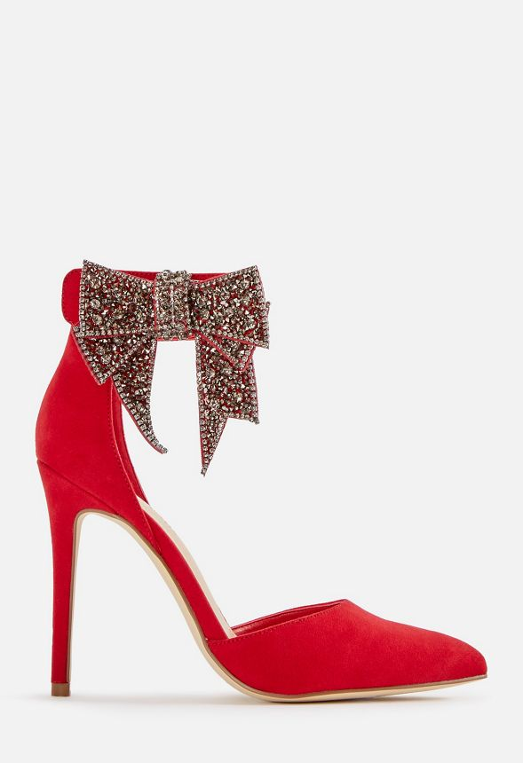05a7cd36bee Lucy Bow Pump in Red - Get great deals at JustFab