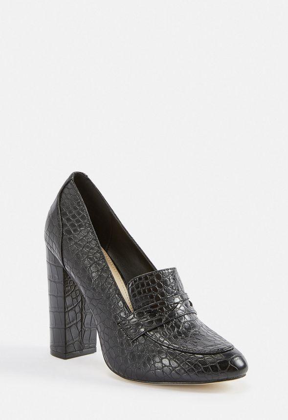 b948e095d75 Bonny Block Heel Loafer in Black - Get great deals at JustFab
