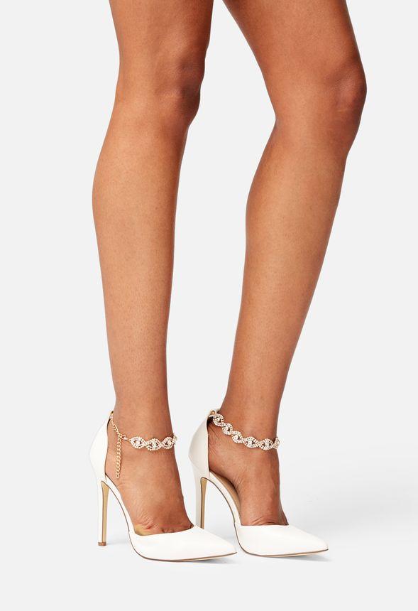 Embellished Ankle Strap Pump in